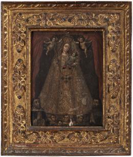 "45  -  <p><span class=""description"">Virgen del Rosario, siglo XVIII</span></p>"