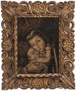 """14  -  <p><span class=""""description"""">Virgen con el niño, siglo XVIII</span></p>"""