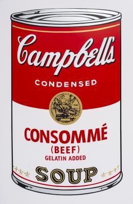 """15  -  <p><span class=""""description"""">Andy Warhol. Campbell's Consommé Soup, 2018</span></p>"""