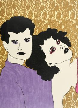 """17  -  <p><span class=""""description"""">María de la Paz Jaramillo. Sin título, de la serie Parejas, 1986</span></p>"""