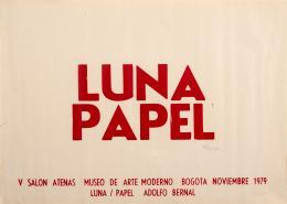 "22  -  <p><span class=""description"">Adolfo Bernal. Luna / Papel, 1979</span></p>"