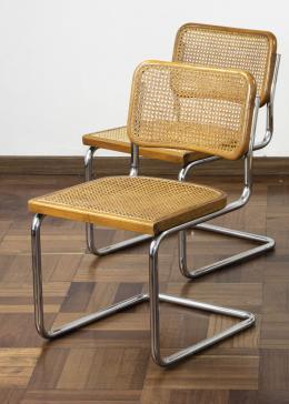 "48  -  <span class=""object_title"">Sillas cantilever Cesca, estilo Marcel Breuer</span>"