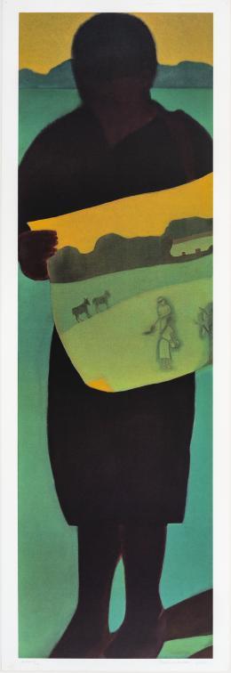 "19  -  <p><span class=""description"">Beatriz González. Voy desapareciendo como sombra que se alarga (Salmos/109,23), 2010</span></p>"