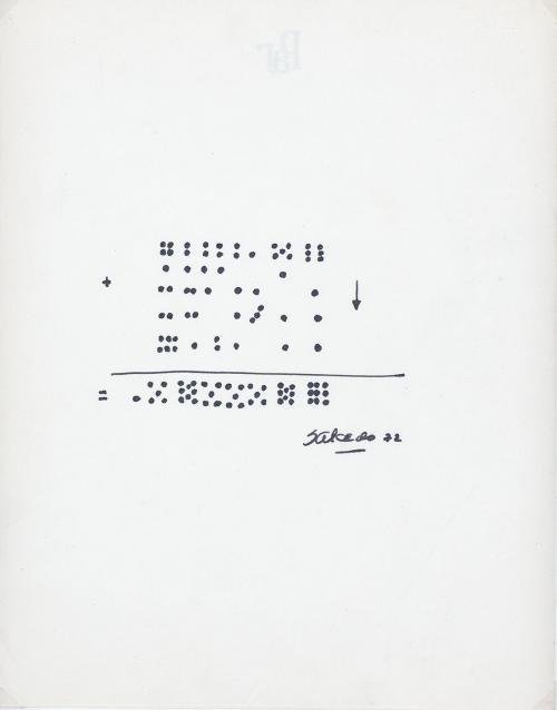Bernardo Salcedo : [Las sumas], 1972