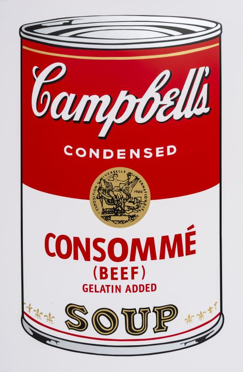 Andy Warhol (EE.UU., 1928 - 1987) : Campbell's Consommé Soup
