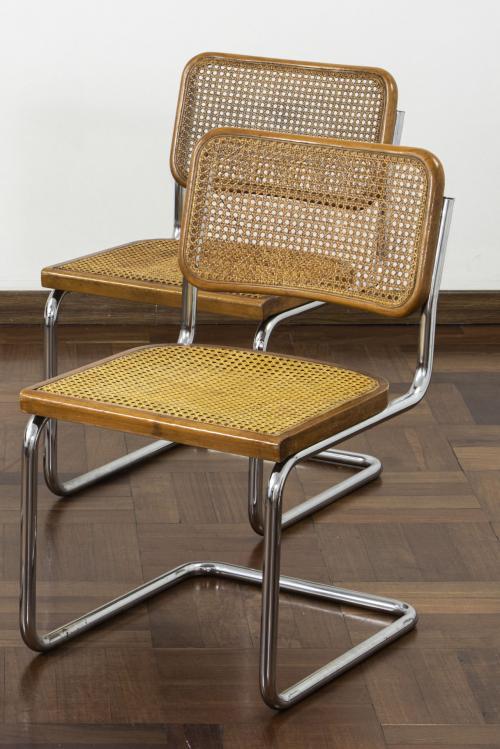 Sillas cantilever Cesca, estilo Marcel Breuer