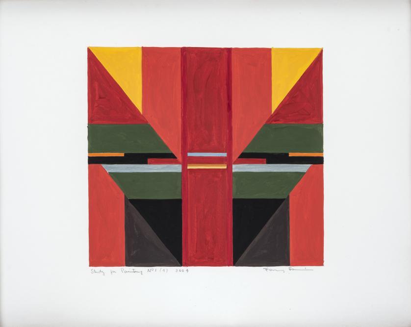Fanny Sanín : Study for painting N 1(4), 2004