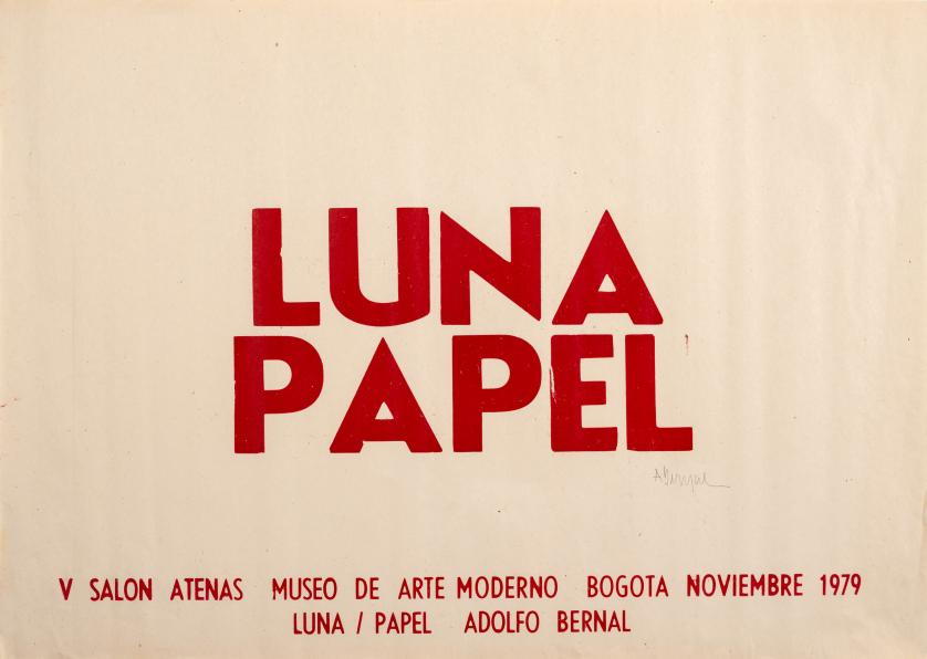 Adolfo Bernal (Colombia, 1954 - 2008) : Luna / Papel
