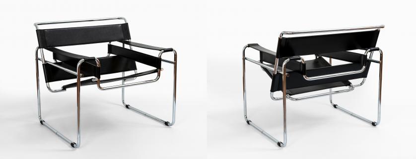 Silla vintage estilo Wassily de Marcel Breuer